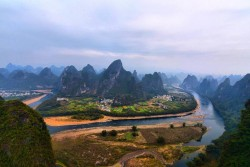 View of Li River from Xianggong Hill