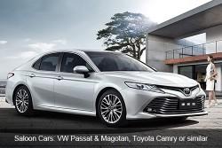 Saloon Cars: VW Passat & Magotan, Toyota Camry or similar