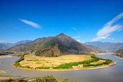 First Bend of Yangtze River at Stone Drum Town