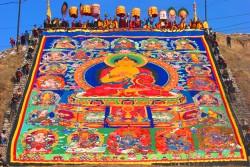 Sunning the Buddha, Amdo Tibetan Monlam Festival