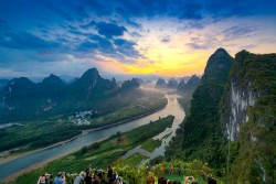 View of Li River from Top of Xianggong Hill