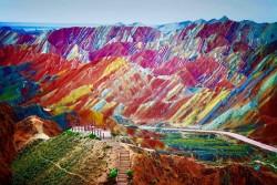 Rainbow Colored Mountains, Zhangye