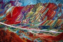 Zhangye Rainbow Colored Mountains