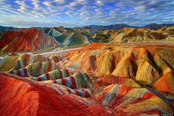 Zhangye Rainbow Colored Mountains